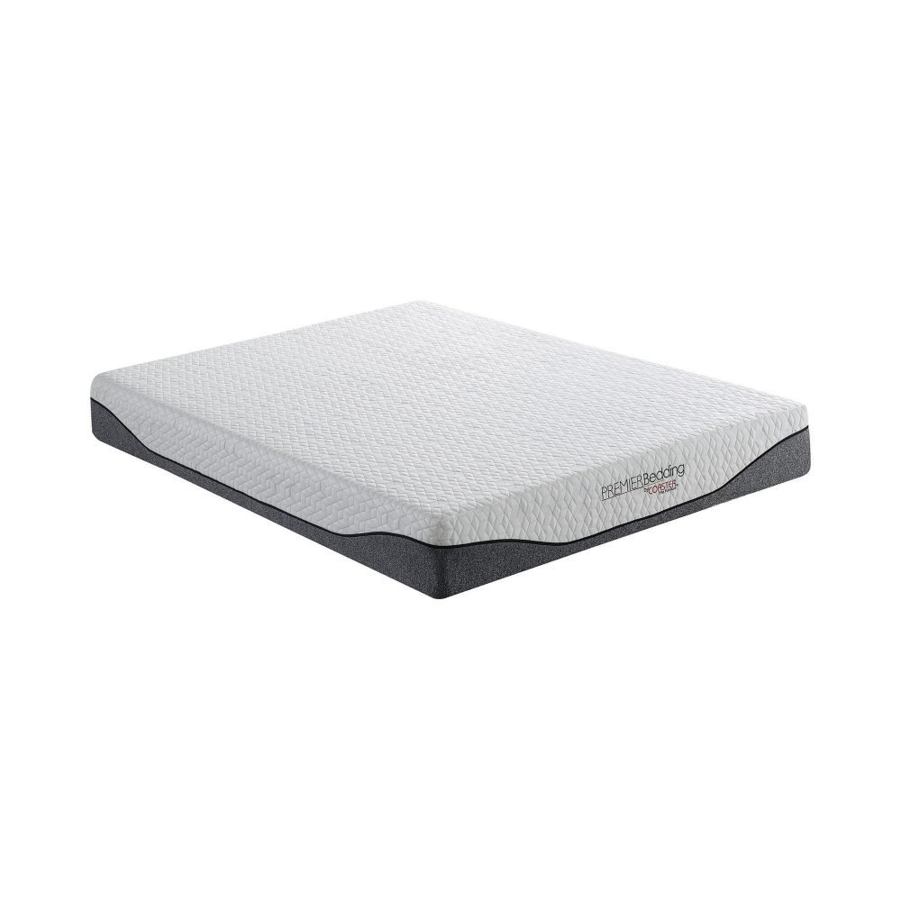 Madigan 10″ Eastern King Memory Foam Mattress Grey And White